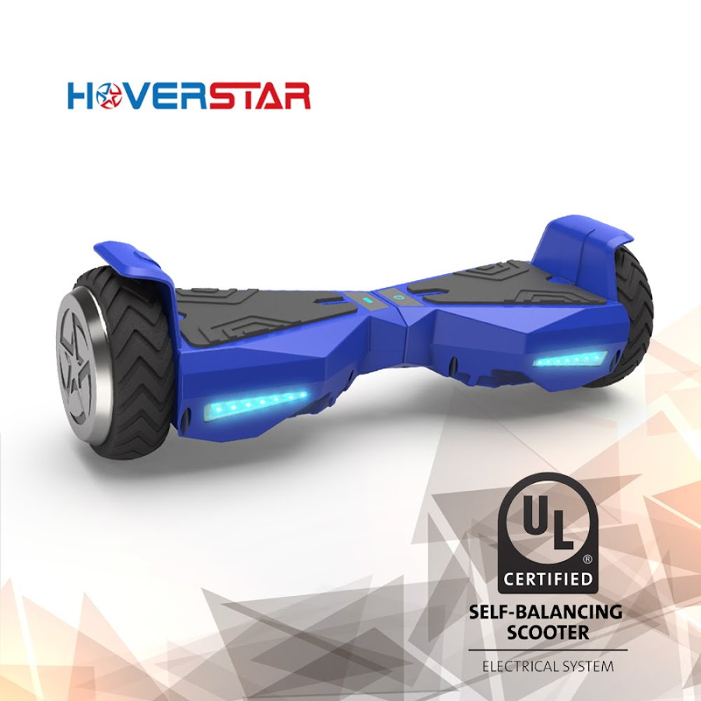 "Hoverboard 6.5"" UL 2272 Listed Two-Wheel Self Balancing Electric Scooter with LED Light Blue"