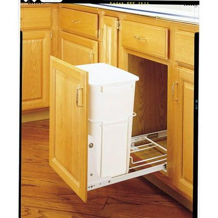 Series Trash Cans (Rev-A-Shelf RV-18PB-1 RV Series Bottom Mount Single Bin 19.25