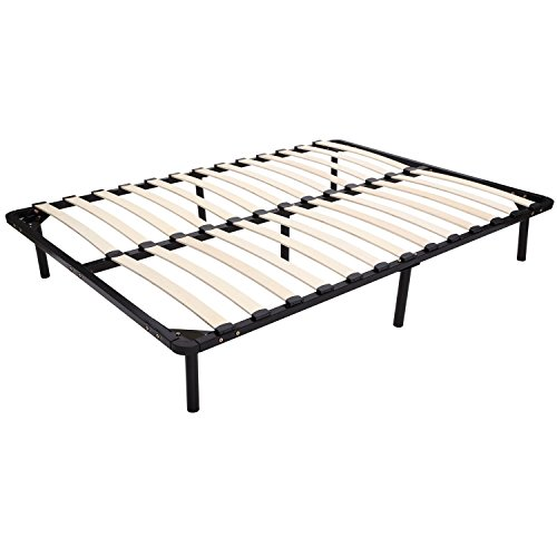 HomCom Full Size Mattress Wood Slat Platform Bed Frame ...