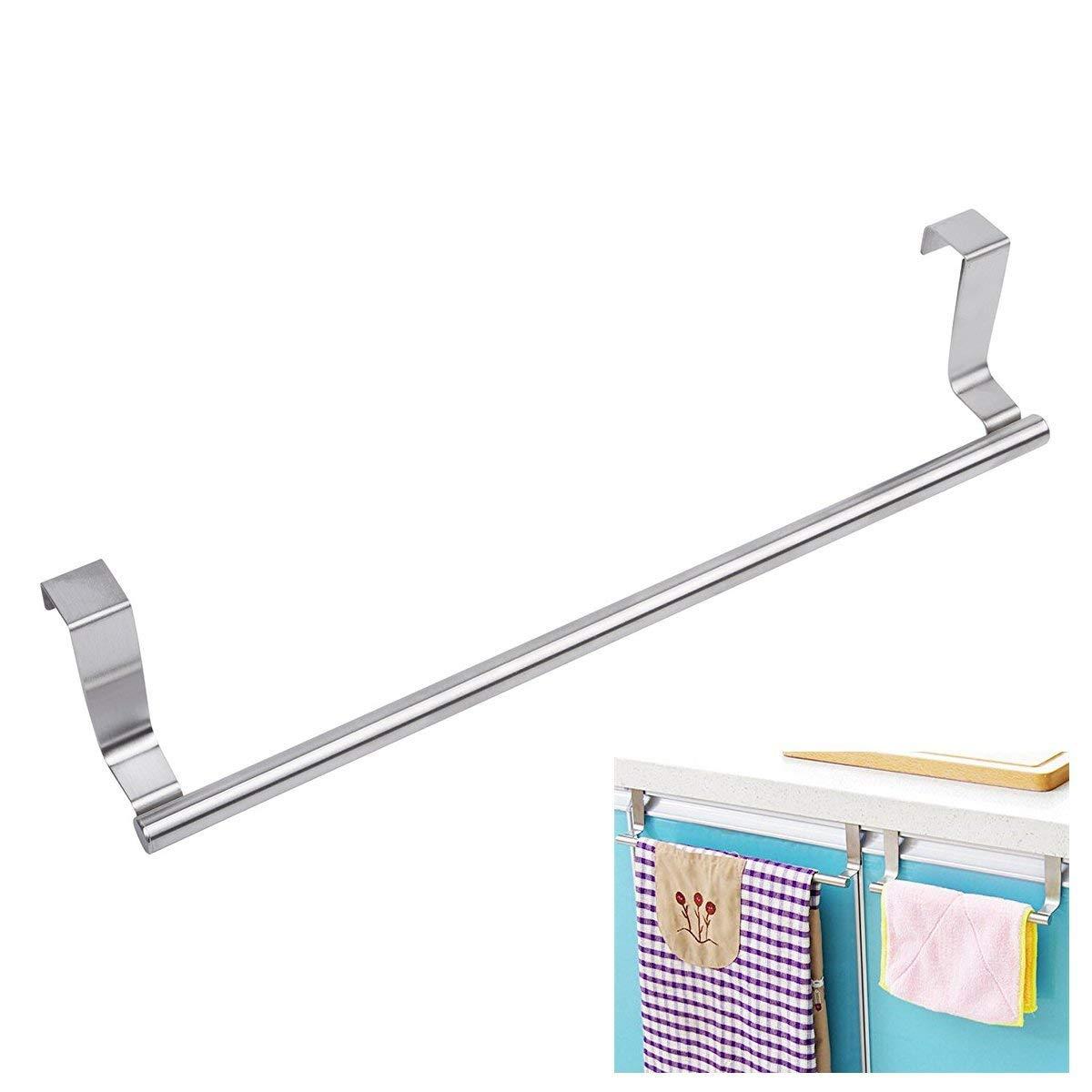 Juslike Towel Bar,Towel Hanger Over Cabinet Door No Drill ...