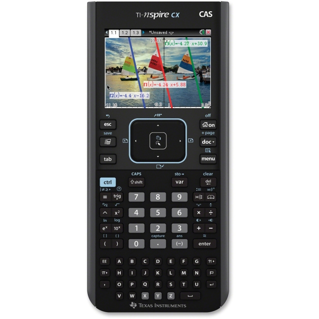 Texas Instruments Nspire CX CAS Graphing Calculator - Backlit Display, Textbook Display, Slide-on Hard Case - 100 MB, 64