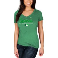 St. Louis Cardinals Majestic Women's 2018 St. Patrick's Day Authentic Celtic V-Neck T-Shirt - Kelly Green