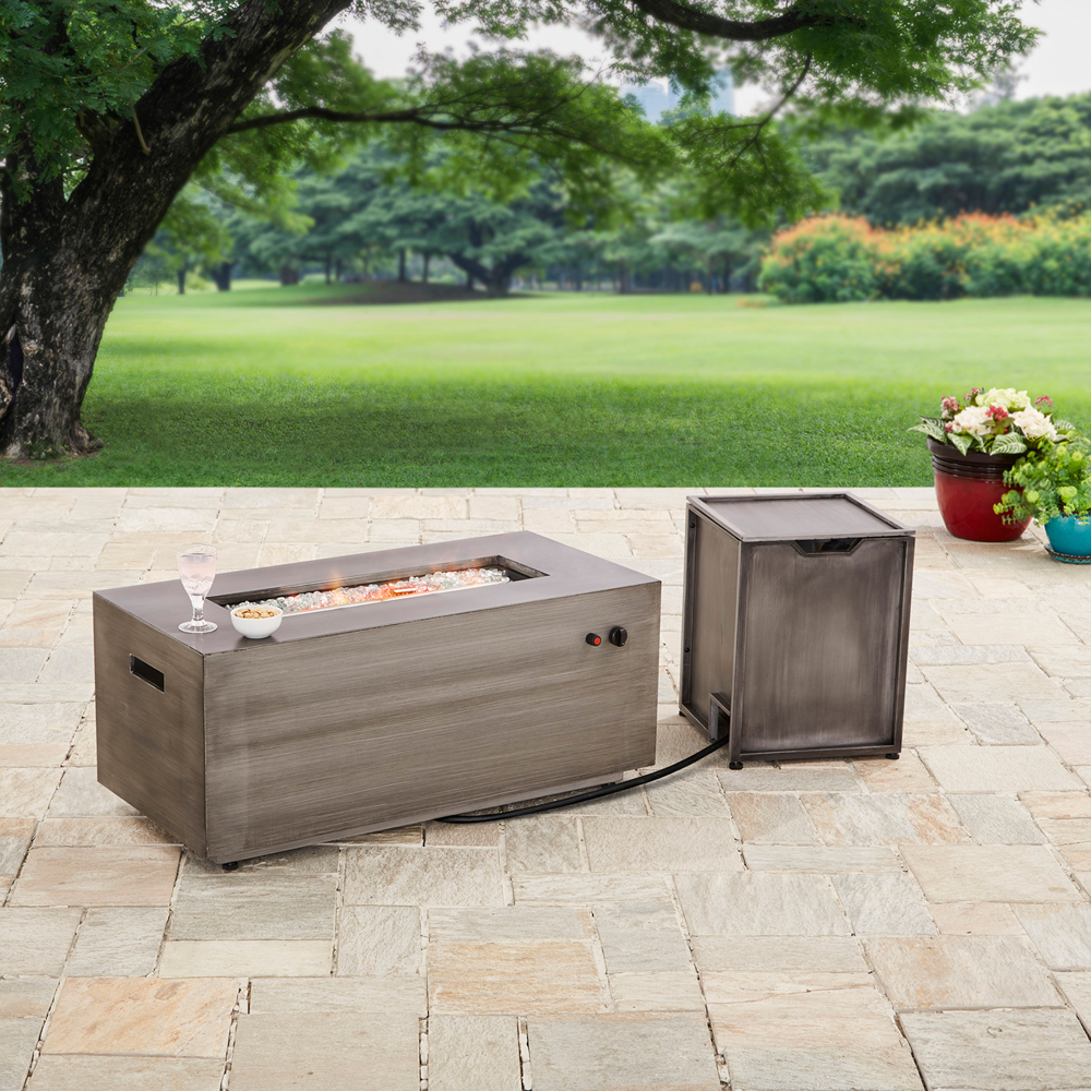 "Better Homes and Gardens 42"" Bennett Rectangular Propane Gas Fire Pit"
