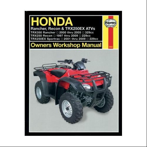 Haynes Repair/Service Manual 2553 Fits 97-01 Honda TRX250 RECON