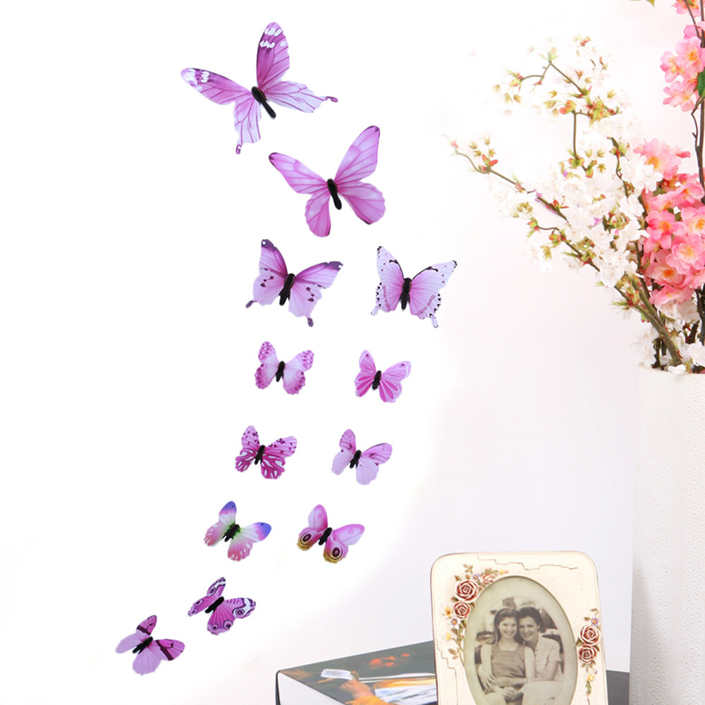 3D DIY Wall Sticker Stickers Butterfly Home Decor Room Decorations New BU