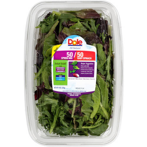 Dole 50/50 Spring Mix & Baby Spinach Salad, 10 oz