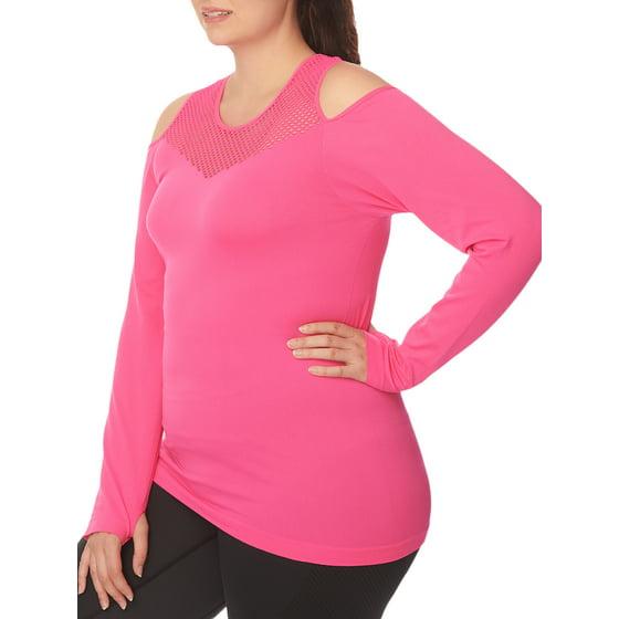 043be78b85e73 Under Control - Women s Plus Size Active Cold Shoulder Long Sleeve ...