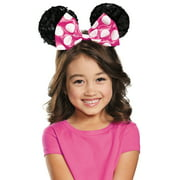 Pink Minnie Mouse Child Sequin Ears Halloween Costume Accessory