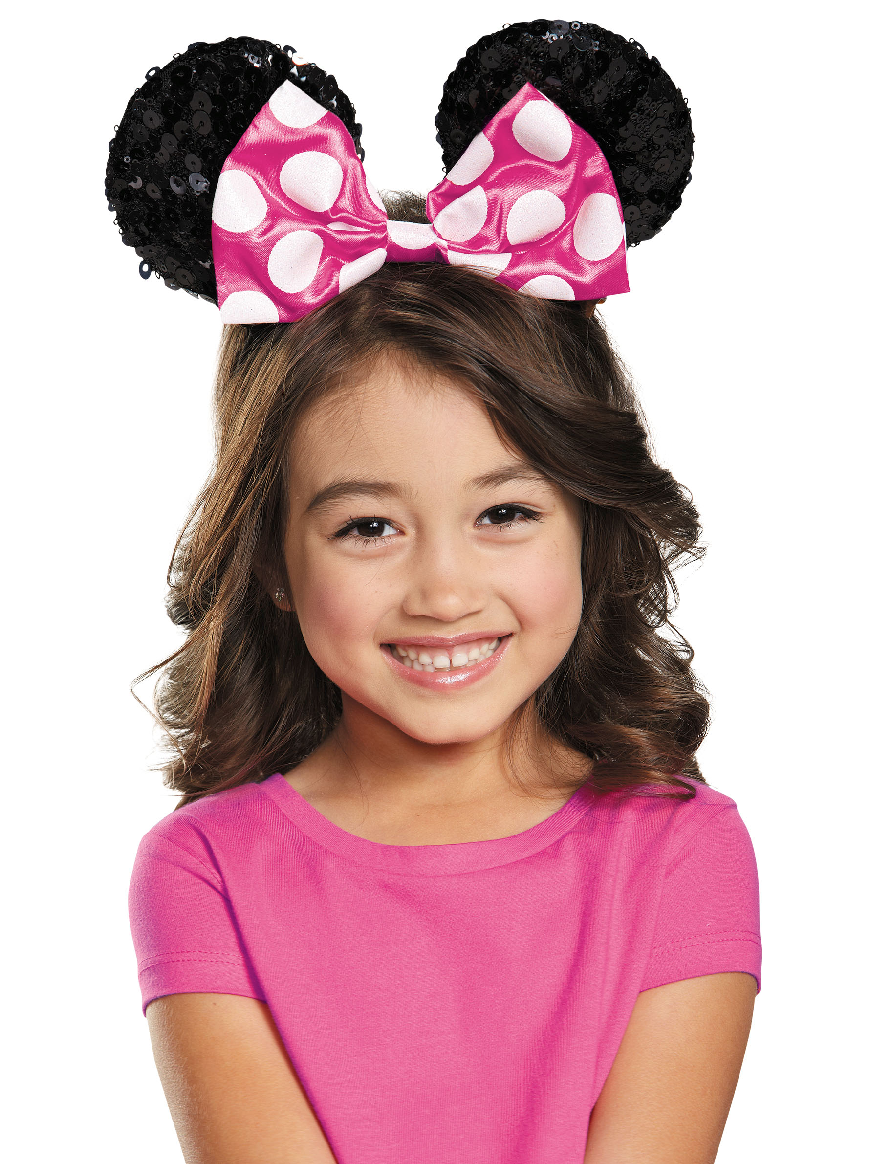 Pink Minnie Mouse Child Sequin Ears Halloween Costume Accessory  sc 1 st  Walmart & Pink Minnie Mouse Child Sequin Ears Halloween Costume Accessory ...