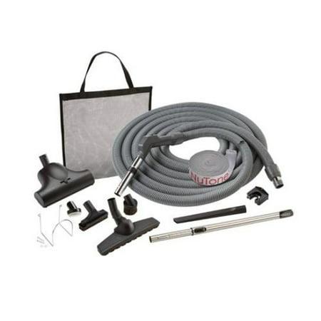 Nutone CS400 Central Vacuum Carpet and Bare Floor Combination Attachment Set with Pet Care Brush