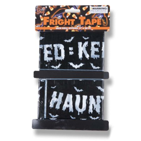 Veil Entertainment Haunted Keep Out Spooky 20' Caution Tape, Black White, 2 CT