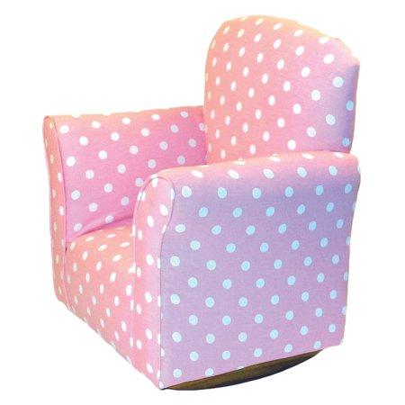 Brighton Pattern - Brighton Home Toddler Rocker - Baby Pink with White Polka Dots