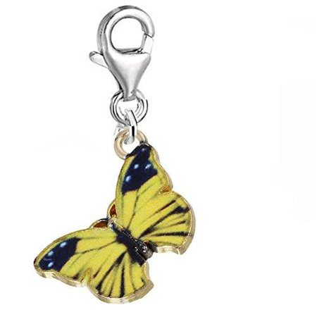 Butterfly Necklace Charm Pendant (Clip on Butterfly Charm Pendant for Bracelet or Necklaces )