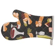 Kitchen Style by Now Designs Basic Mitts, Wine and Cheese, Set of 2