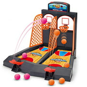 Basketball Shooting Game YUYUGO 2-Player Desktop Table Basketball Games Classic Arcade Games Basketball Hoop Set Fun Sports Toy for Adults-Help Reduce Stress