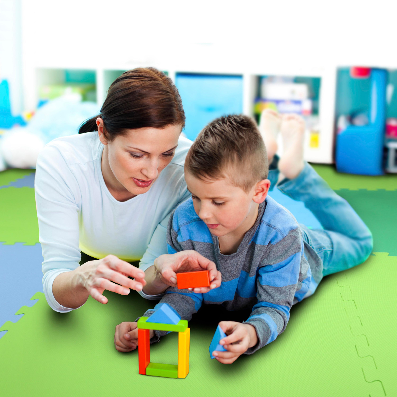 "FlooringInc Premium Soft Foam Tiles 2'x2' Interlocking Soft Kid Tiles 5/8"" Baby Blue (1 Tile)"