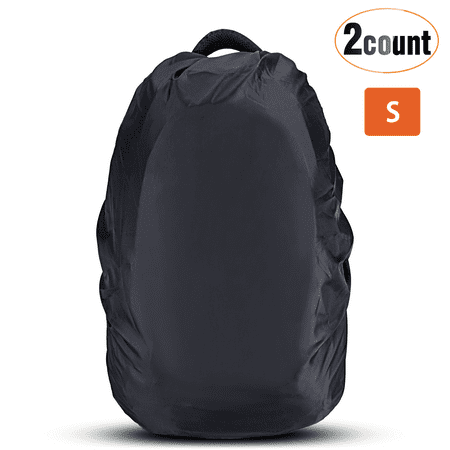 6e00245bf5 AGPTEK 2-Pack Nylon Waterproof Backpack Rain Cover for  Hiking Camping Traveling Outdoor Activities