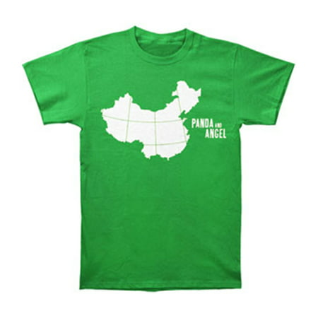 Panda & Angel Men's  China T-shirt Green