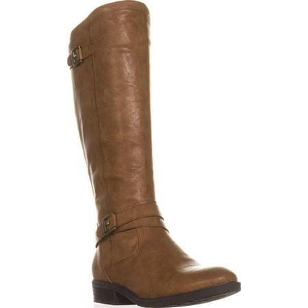 Woof Brushing Boots (Womens BareTraps Yalina Flat Riding Boots, Brush Brown )