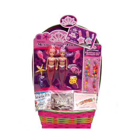 Wondertreats twin mermaid easter basket with candy walmart wondertreats twin mermaid easter basket with candy negle Choice Image