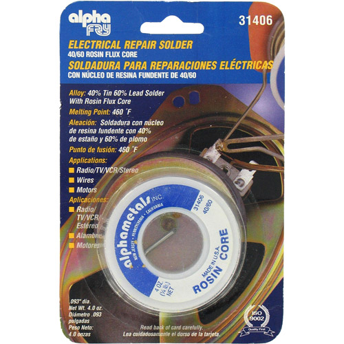 Alpha Fry AM31406 40 60 Electrical Rosin Core Solder by Fry Technologies Cookson Elect