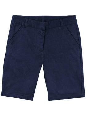 Girls' School Uniform Bermuda Shorts