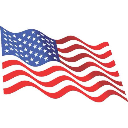 5in x 3in Waving American Flag Sticker Decal Stickers Window Vinyl Decals Country Flag Vinyl Decal Sticker
