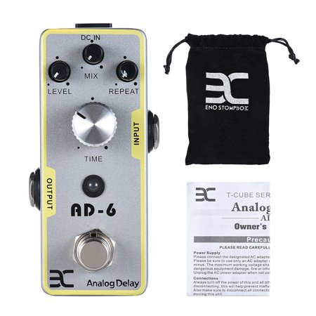 ENO EX AD-6 Electric Guitar Analog Delay Effect Pedal Full Metal Shell True Bypass - image 3 de 5