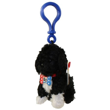 TY Beanie Baby - BO the Portuguese Water Dog ( Plastic Key Clip - Blue Clip ) (3.5 inch) - Ty Keychains