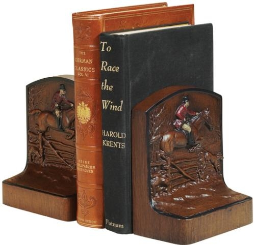 Bookends Bookend Fox Hunter Jumper Fence Hunter Rider Horse . Cast Resin OK-575 by