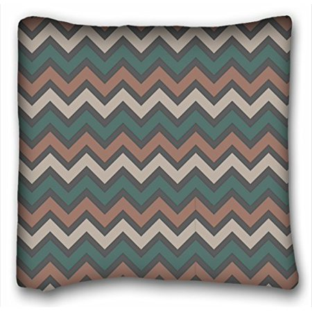 RYLABLUE Chevron Gradient Wave Tribal Striped Geometric Pillowcase Throw Cushion Pillow Case Cover Anchor Light Blue Coral Teal Pink Mint Green Turquoise 20x20 Inch - image 1 de 1