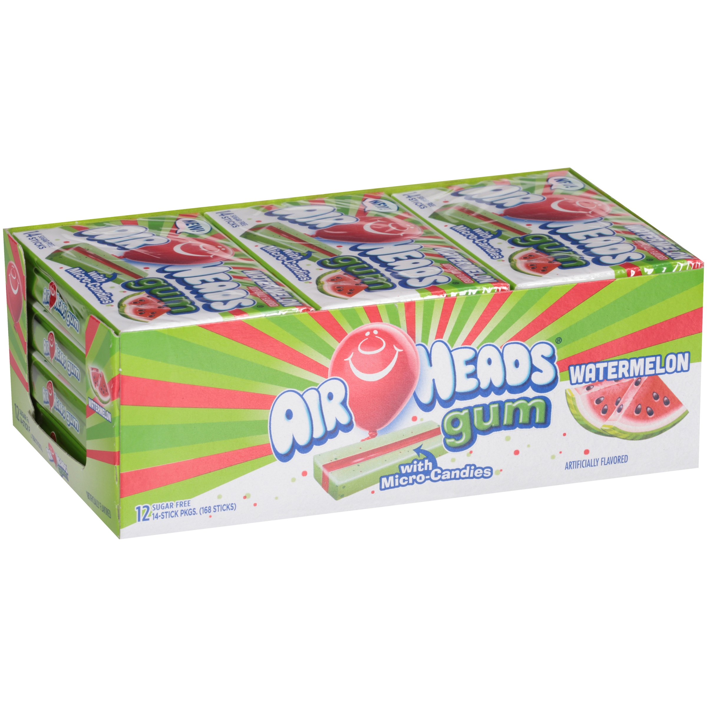 Image of Airheads Gum Watermelon 14 Piece Wallet Pack - Pack of 12