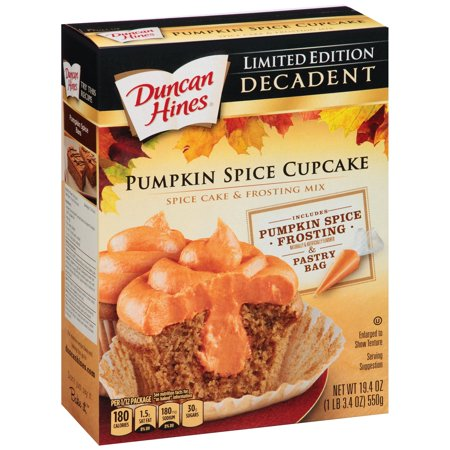 Duncan Hines Decadent Pumpkin Spice Cupcake Cake And Frosting Mix