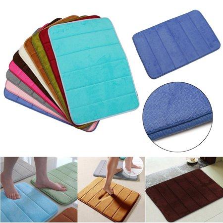 24 X16 Memory Foam Rug Bath Mat Bathroom Bedroom Non Slip Mats Shower Carpet Home Decal