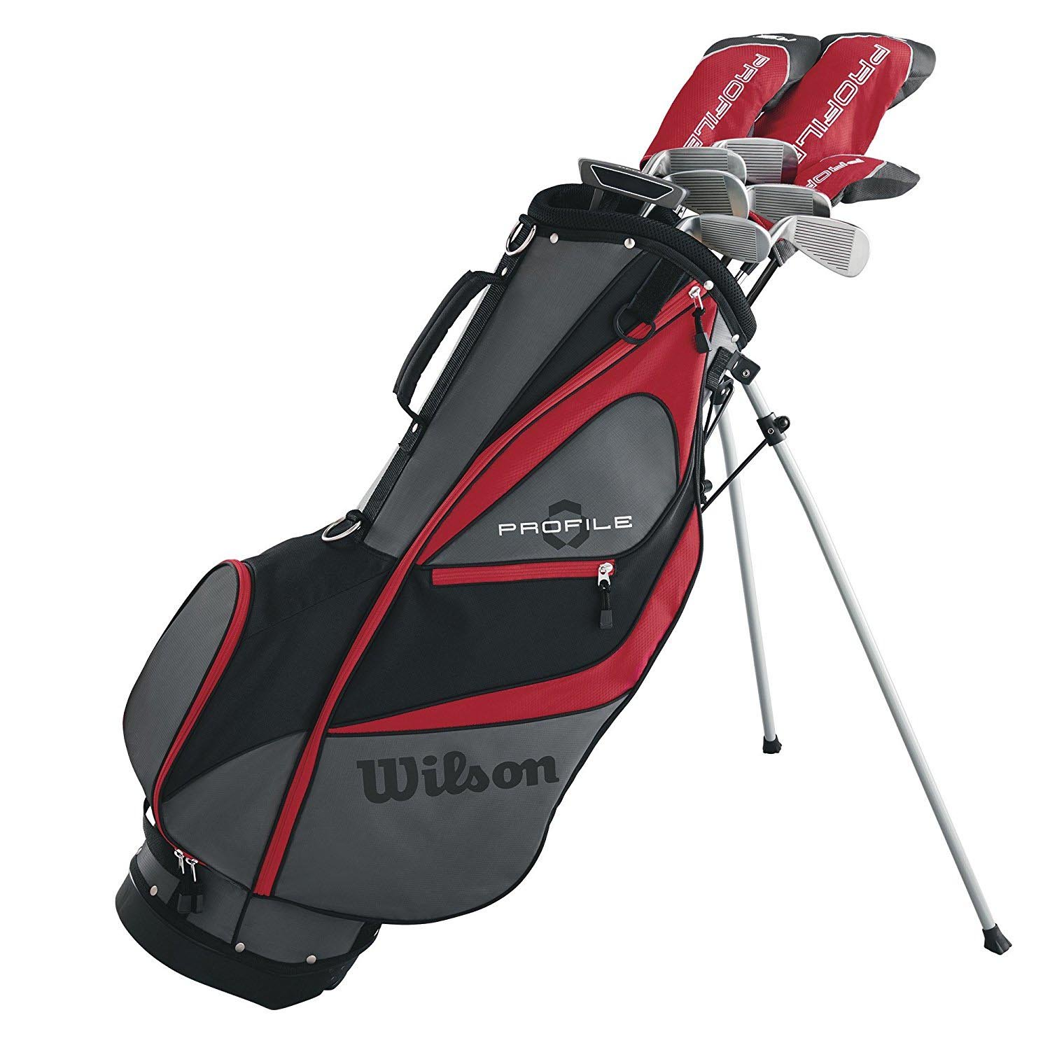 Wilson Profile XD Men's RH Flex Graphite Steel Long Golf Club Set and Stand Bag by Wilson