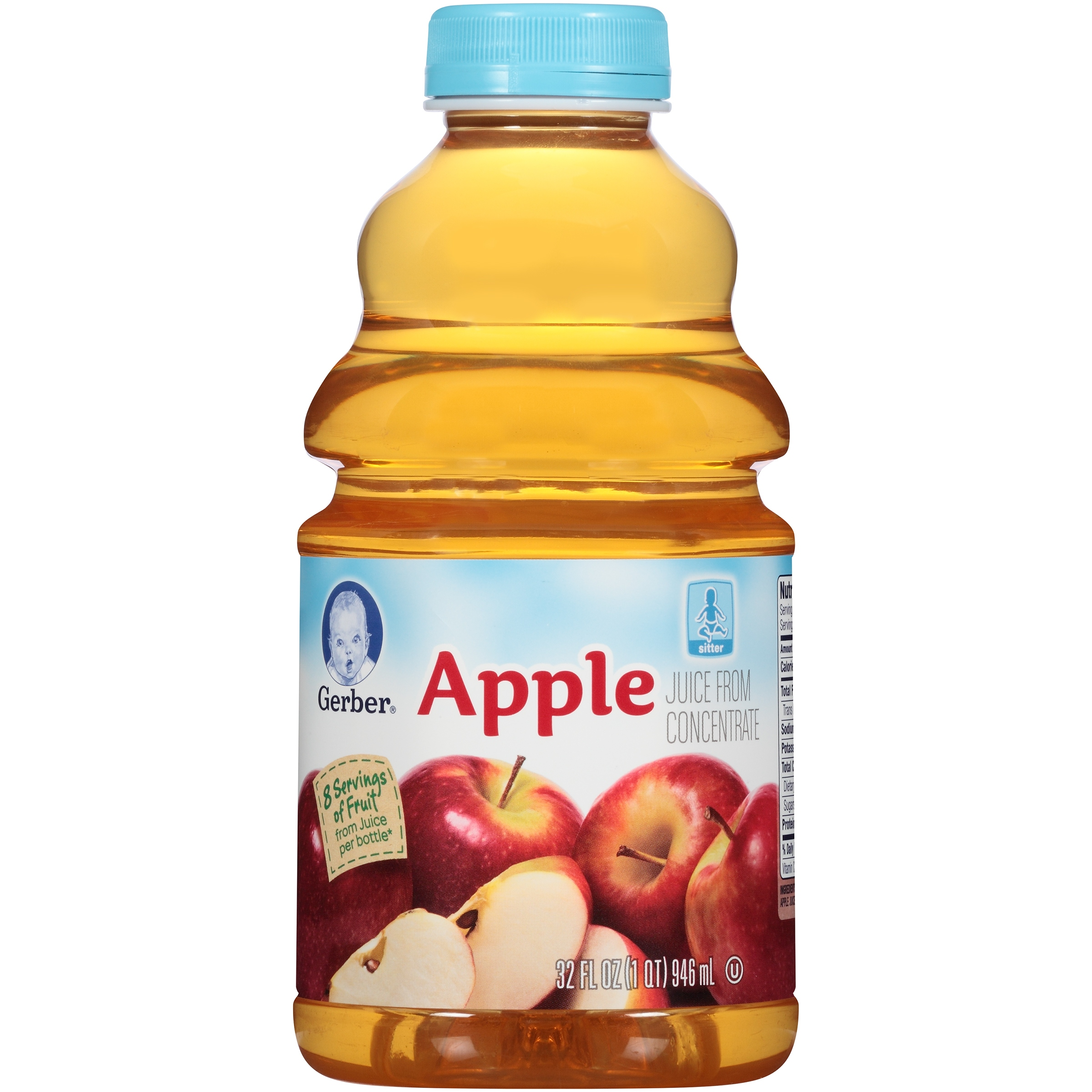 Gerber Juices Apple Juice 32 Fl Oz Pack Of 2 Walmart Com