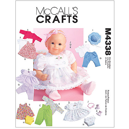 McCall's Pattern Baby Doll Clothes, All Sizes in 1 Envelope