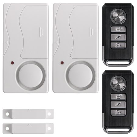2-pack Wireless Anti-Theft Remote Control Magnetic Sensor Door Window Home Entry Security Burglar Bell Alarm ()