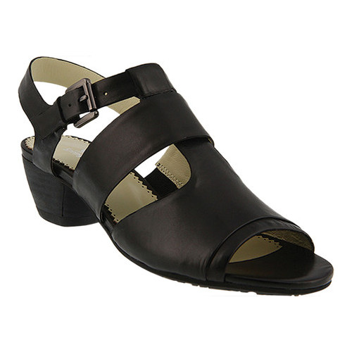 88f5aff8cf0 Women s Spring Step Charisse Strappy Sandal Black Leather 36 M