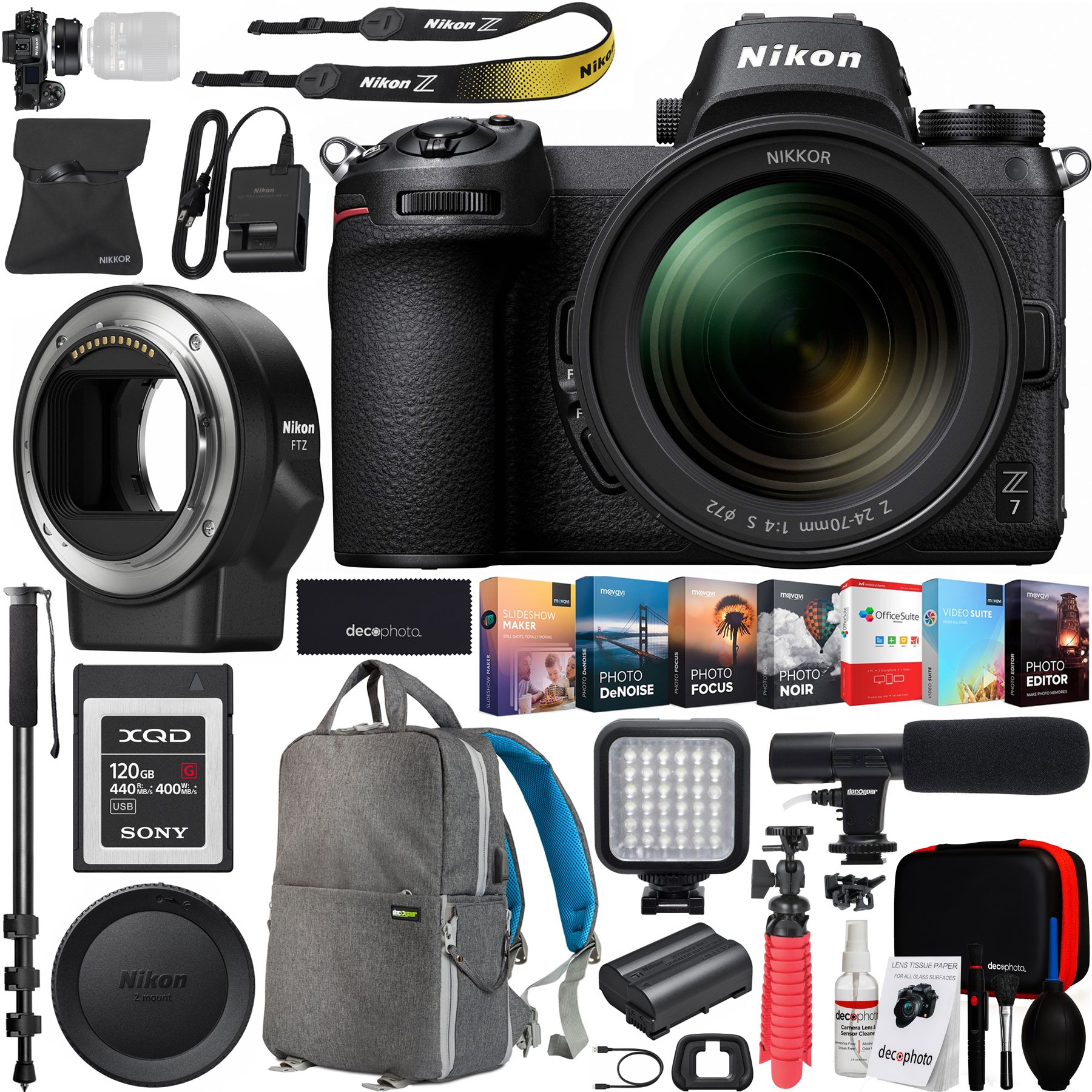 Nikon Z7 Mirrorless Fx Format Full Frame 4k Ultra Hd