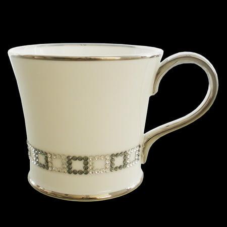 Prouna - Coffee Mug - Bone China - Cube Chain Decorated with Swarovski Crystals