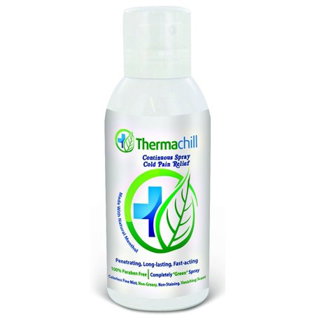 ThermaChill Pain relief spray- Made with natural menthol- Top Choice for Plantar Fasciitis, Tendonitis, Bursitis & Mild rheumatoid arthritis treatment (4 fl - Arthritis Treatment