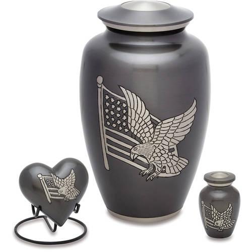 Urnsdirect2U American Pride Cremation Urn Set