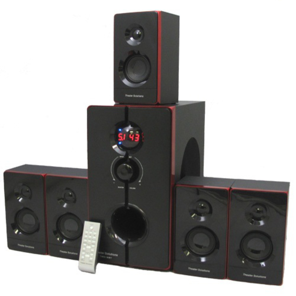 Theater Solutions TS516BT Home Theater Bluetooth 5.1 Speaker Surround Sound System 800 Watts