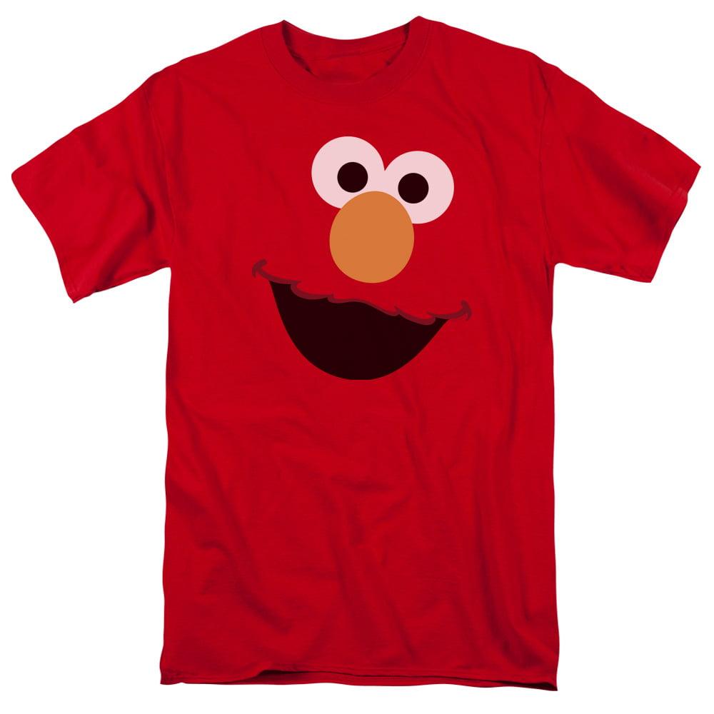 Sesame Street Elmo Face Mens Short Sleeve Shirt