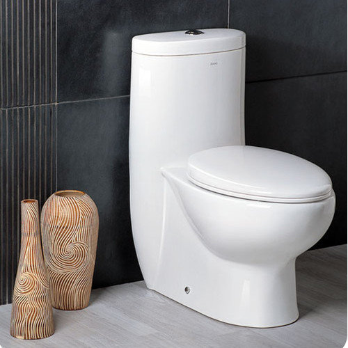 Fresca Delphinus Dual Flush 0.8 GPF / 1.6 GPF Elongated 1 Piece Toilet with Soft Close Seat