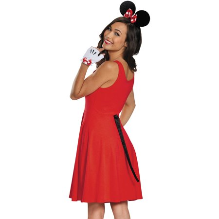 Minnie Mouse Gloves Ears Tail Set Adult Halloween Accessory - Halloween Makeup Tutorial Princess