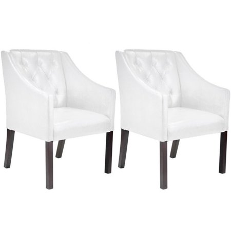 Kingfisher Lane Accent Club Chair in White (Set of 2) ()