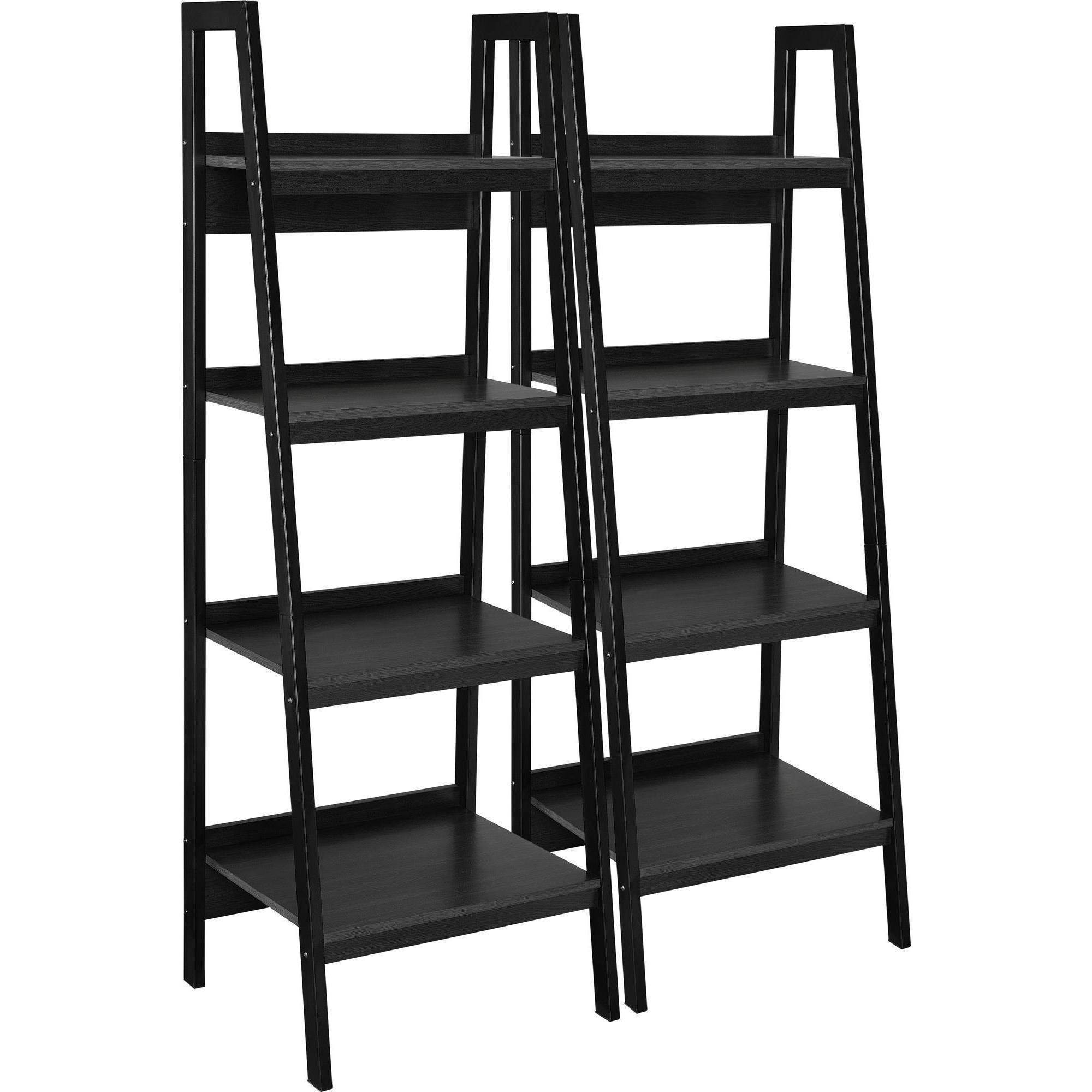Ameriwood Home Hayes 4 Shelf Ladder Bookcase Bundle