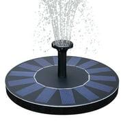 """Solar Powered Bird Bath Fountain Pump 1.4W Solar Panel Kit Water PumpOutdoor Watering Submersible Pump for Pond Pool Garden Fish Tank Aquarium"""